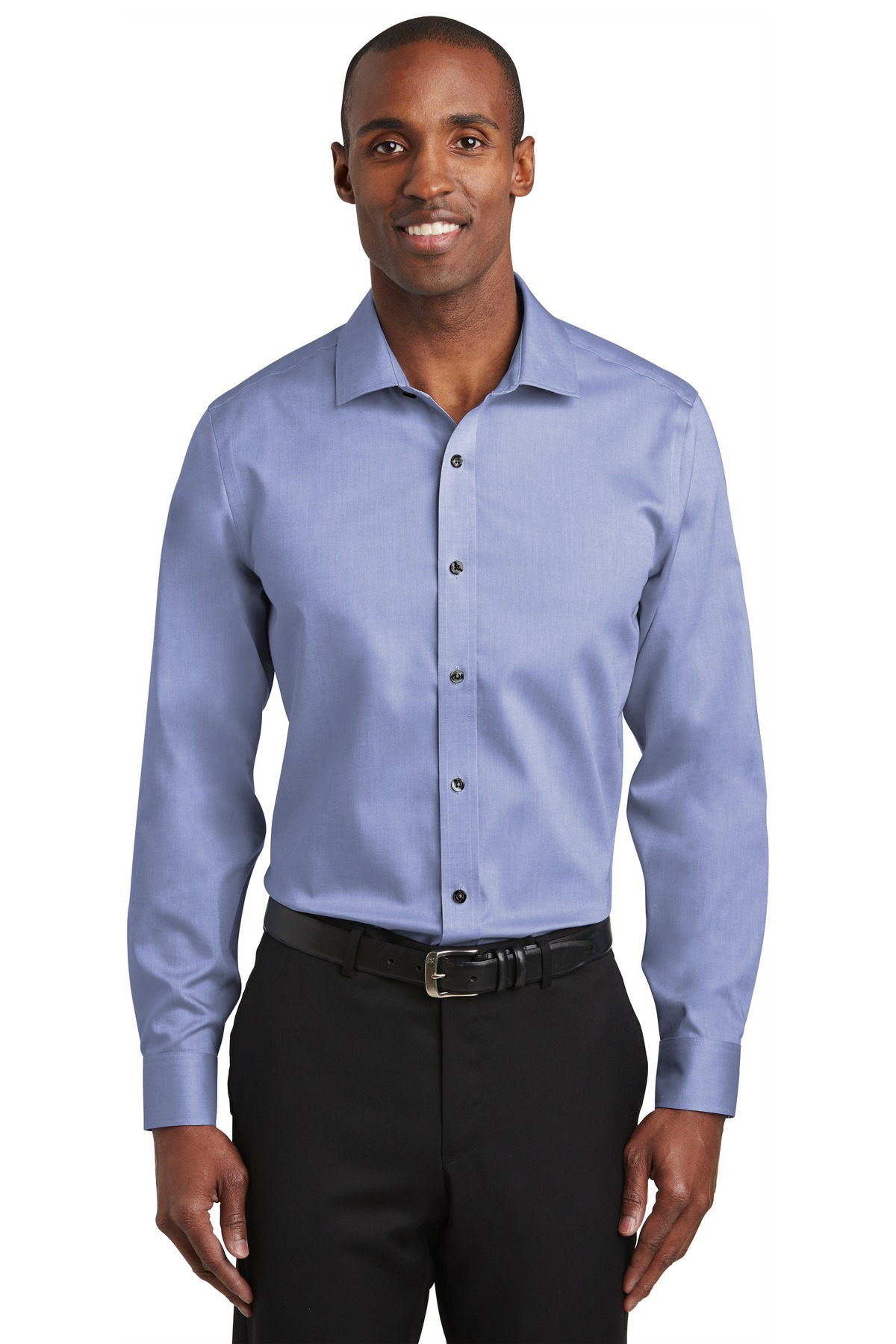 Red House ®   Slim Fit Pinpoint Oxford Non-Iron Shirt. RH620 - Vintage Navy