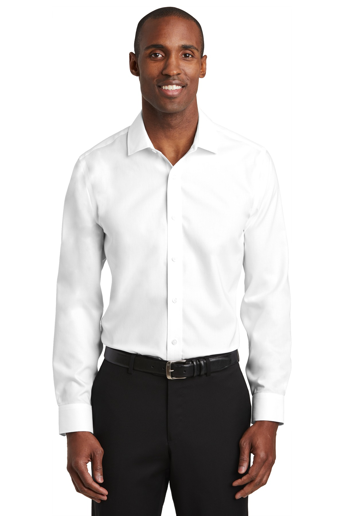 Red House ®   Slim Fit Pinpoint Oxford Non-Iron Shirt. RH620 - White