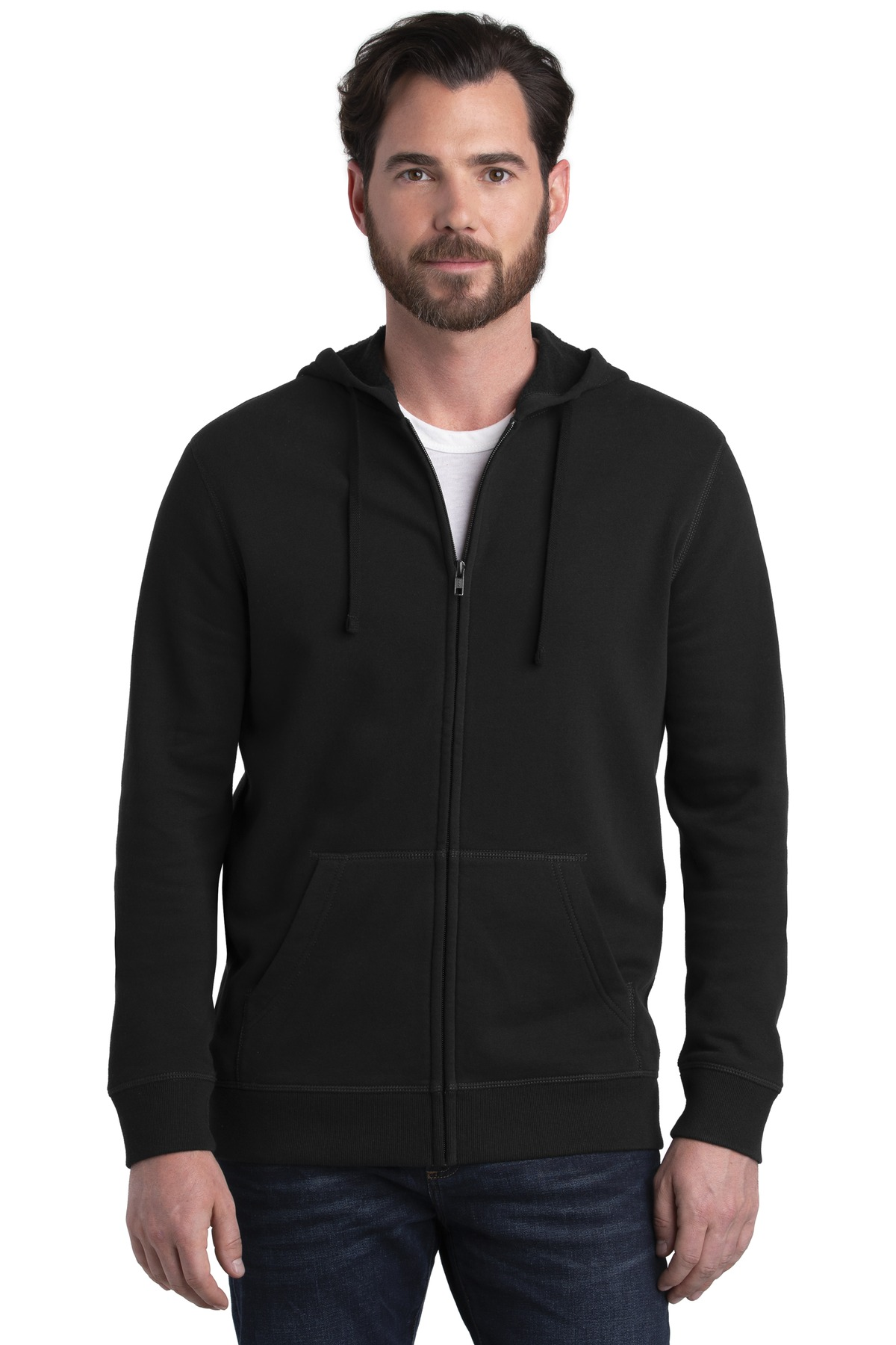 Alternative Indy Blended Fleece Zip Hoodie. AA8050 - Black