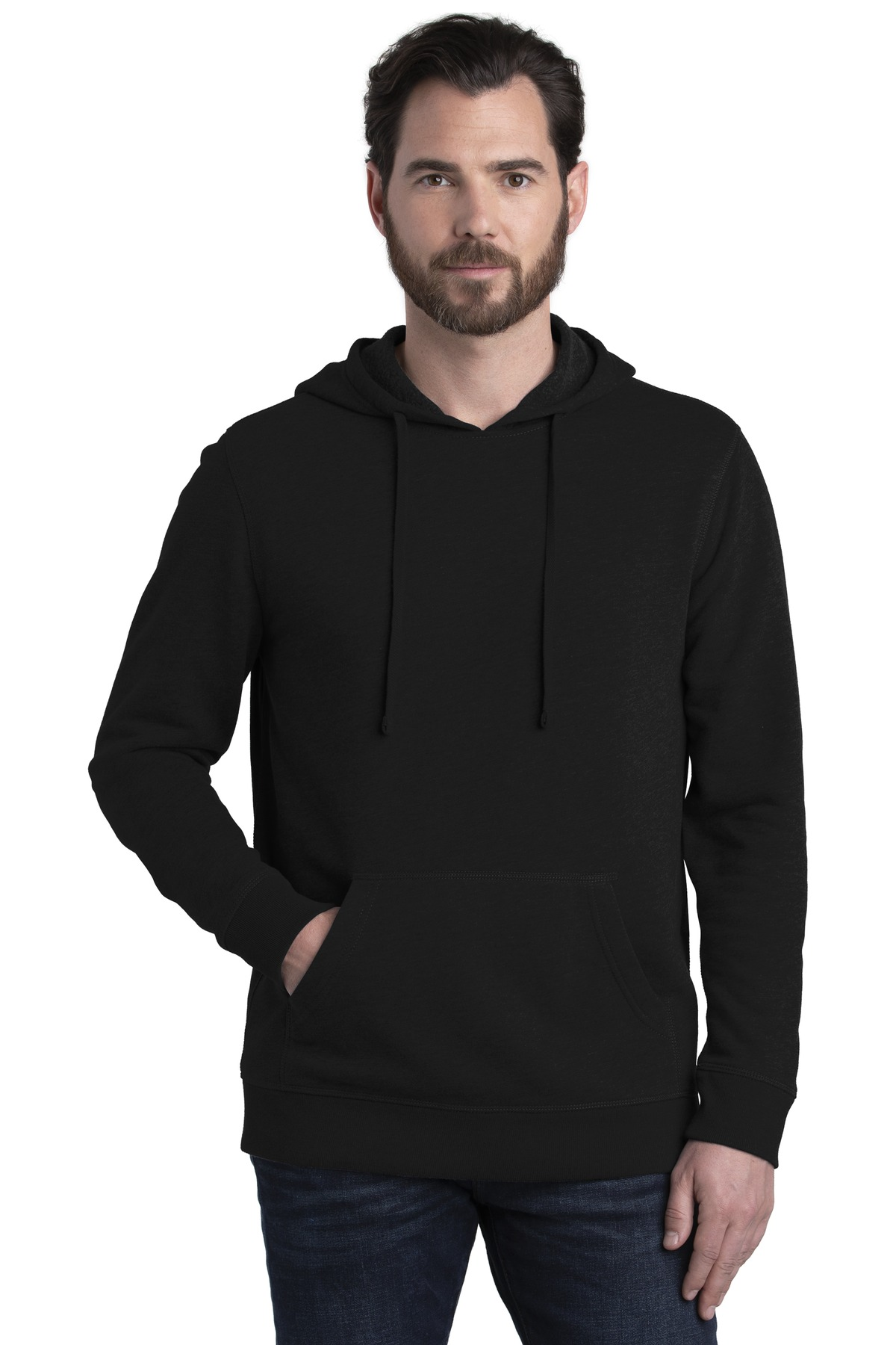 Alternative Rider Blended Fleece Pullover Hoodie. AA8051 - Black