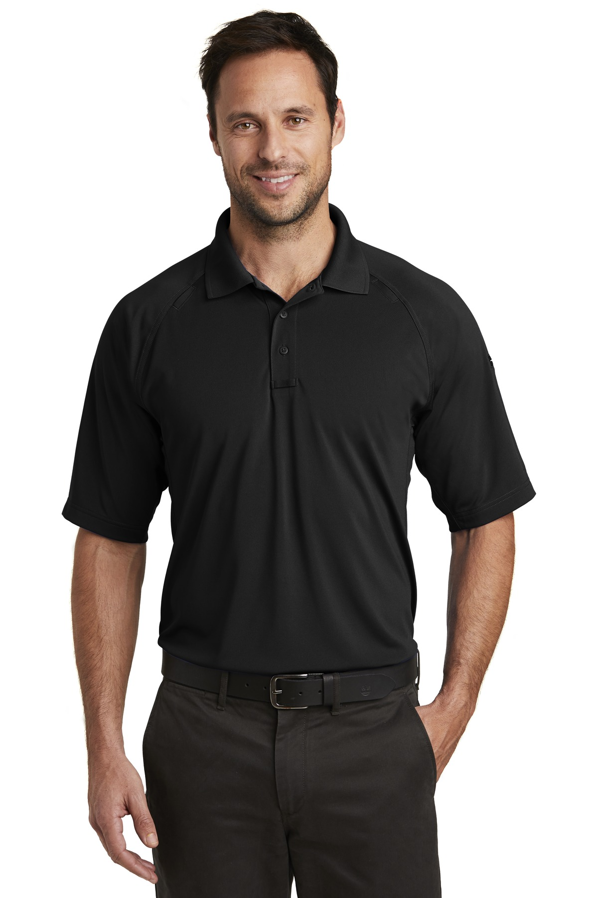 CornerStone  ®  Select Lightweight Snag-Proof Tactical Polo. CS420 - Black