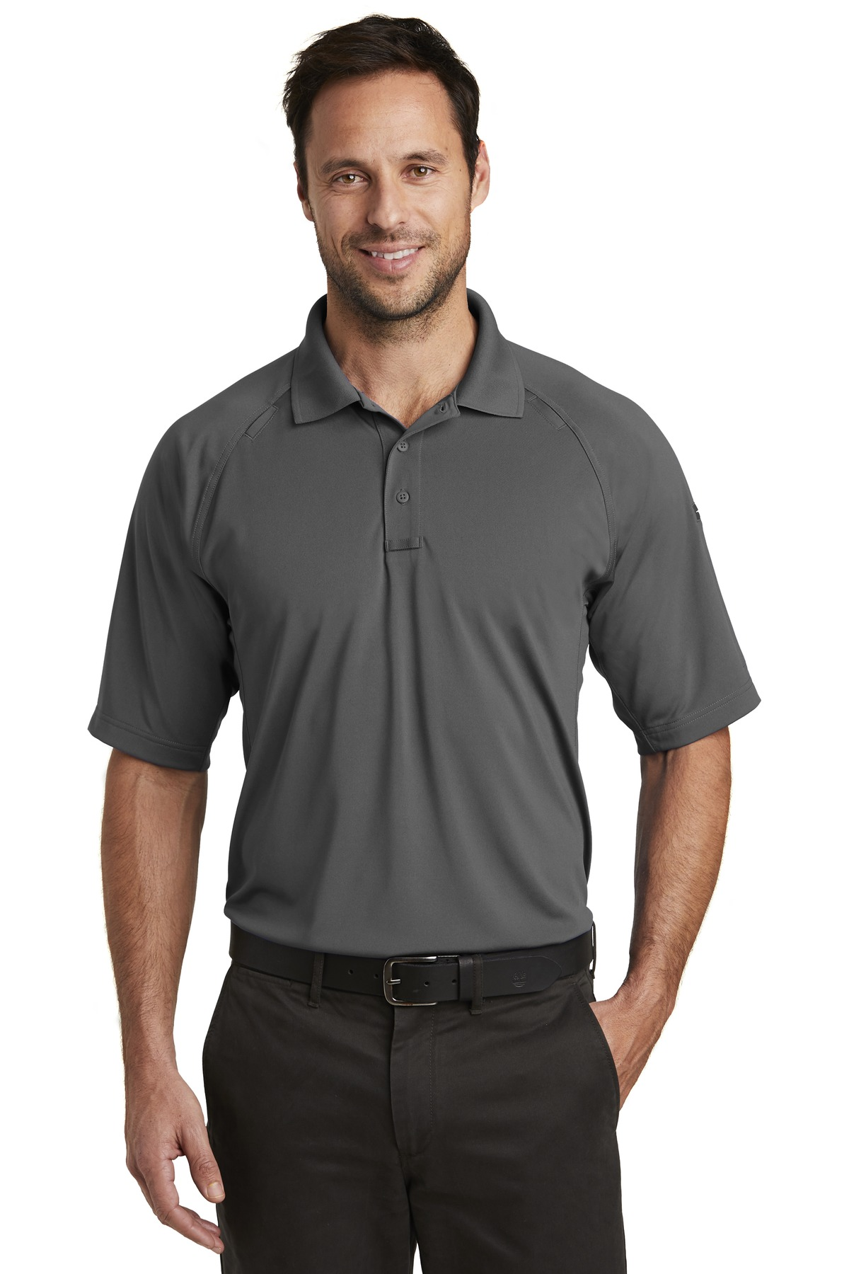 CornerStone  ®  Select Lightweight Snag-Proof Tactical Polo. CS420 - Charcoal