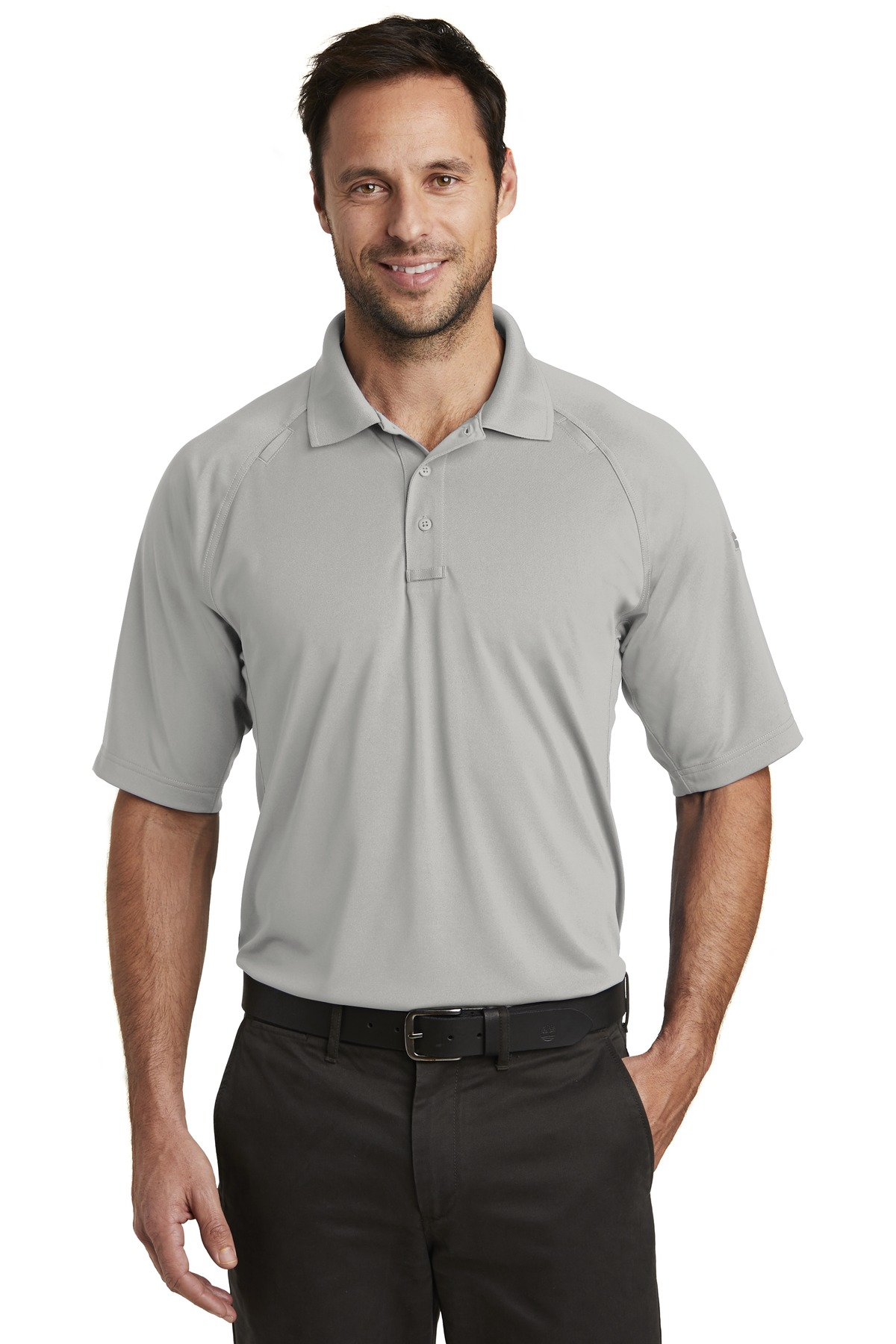 CornerStone  ®  Select Lightweight Snag-Proof Tactical Polo. CS420 - Light Grey