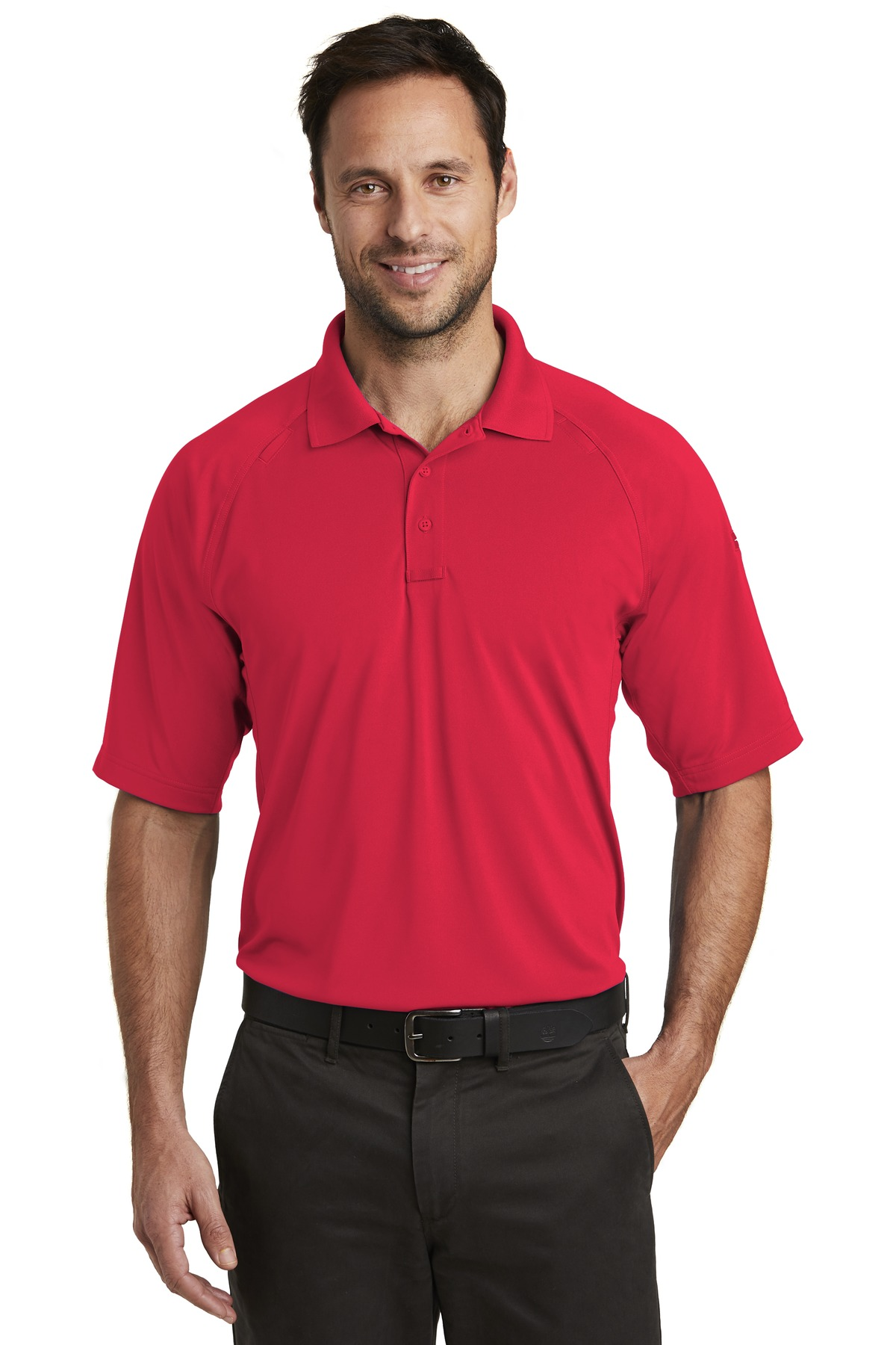 CornerStone  ®  Select Lightweight Snag-Proof Tactical Polo. CS420 - Red