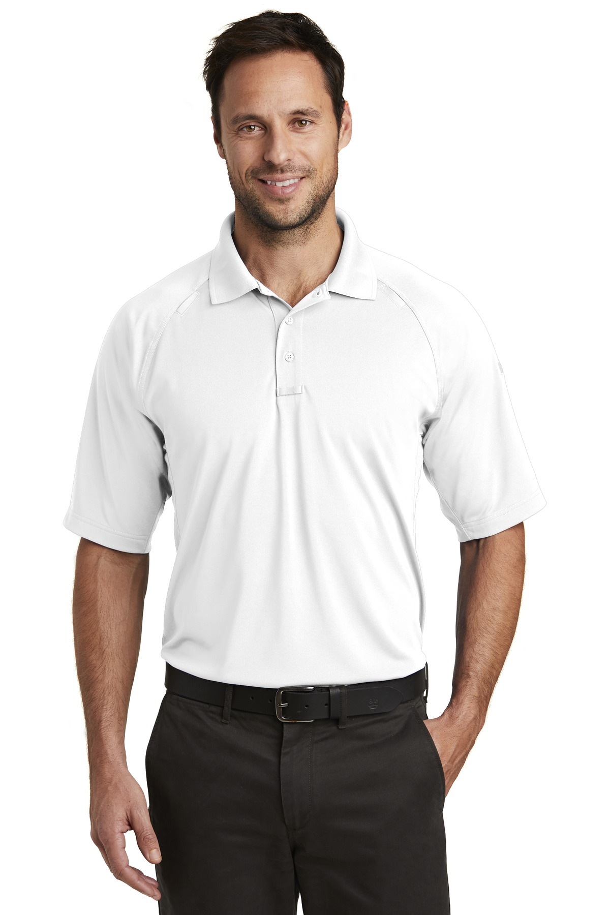 CornerStone  ®  Select Lightweight Snag-Proof Tactical Polo. CS420 - White