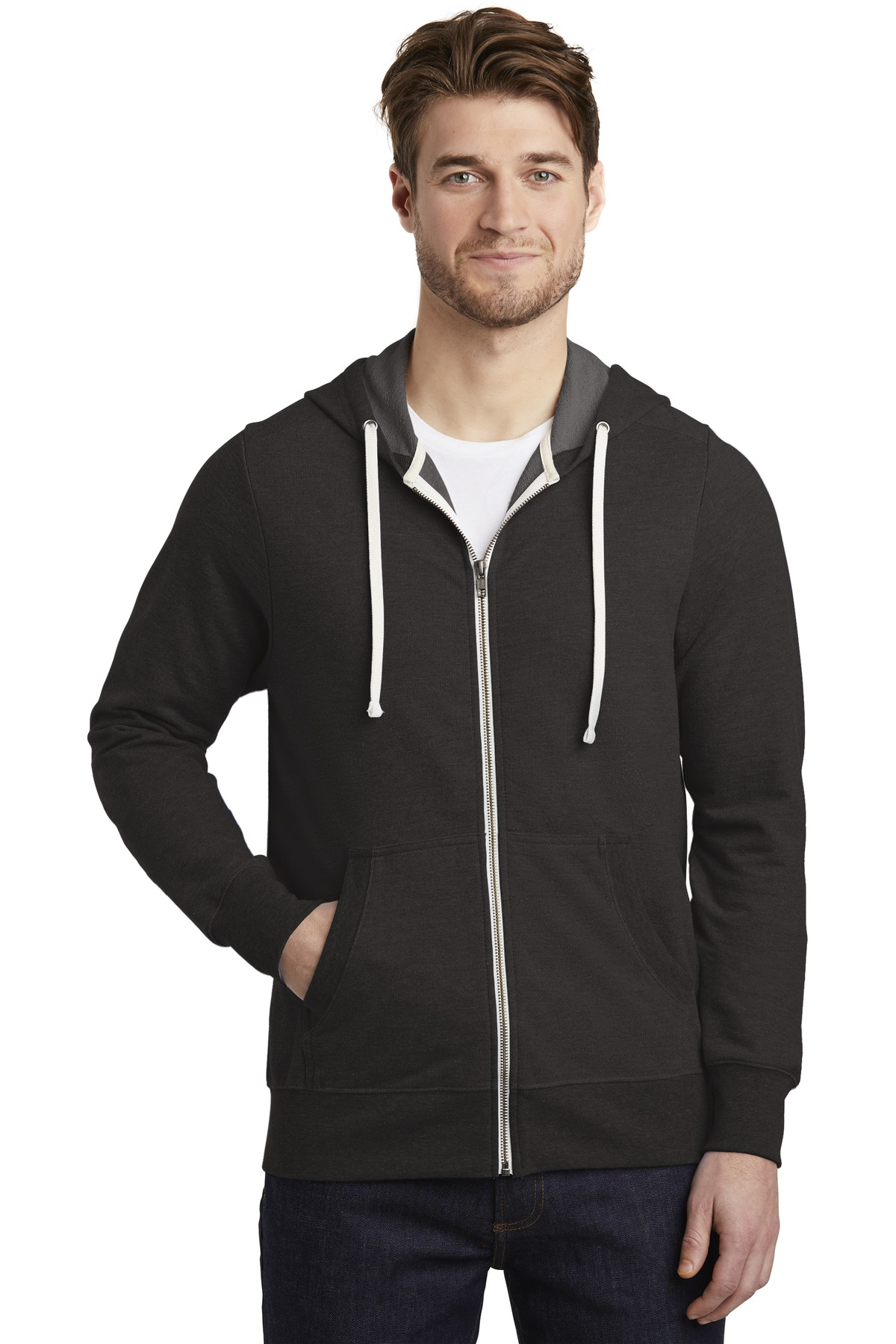District  ®  Perfect Tri  ®  French Terry Full-Zip Hoodie. DT356 - Black