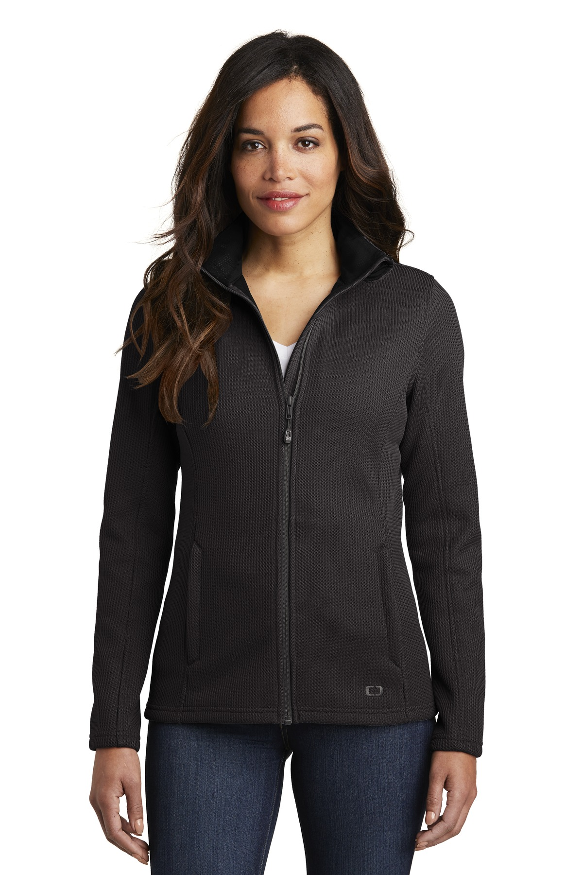 OGIO  ®  Ladies Grit Fleece Jacket. LOG727 - Blacktop