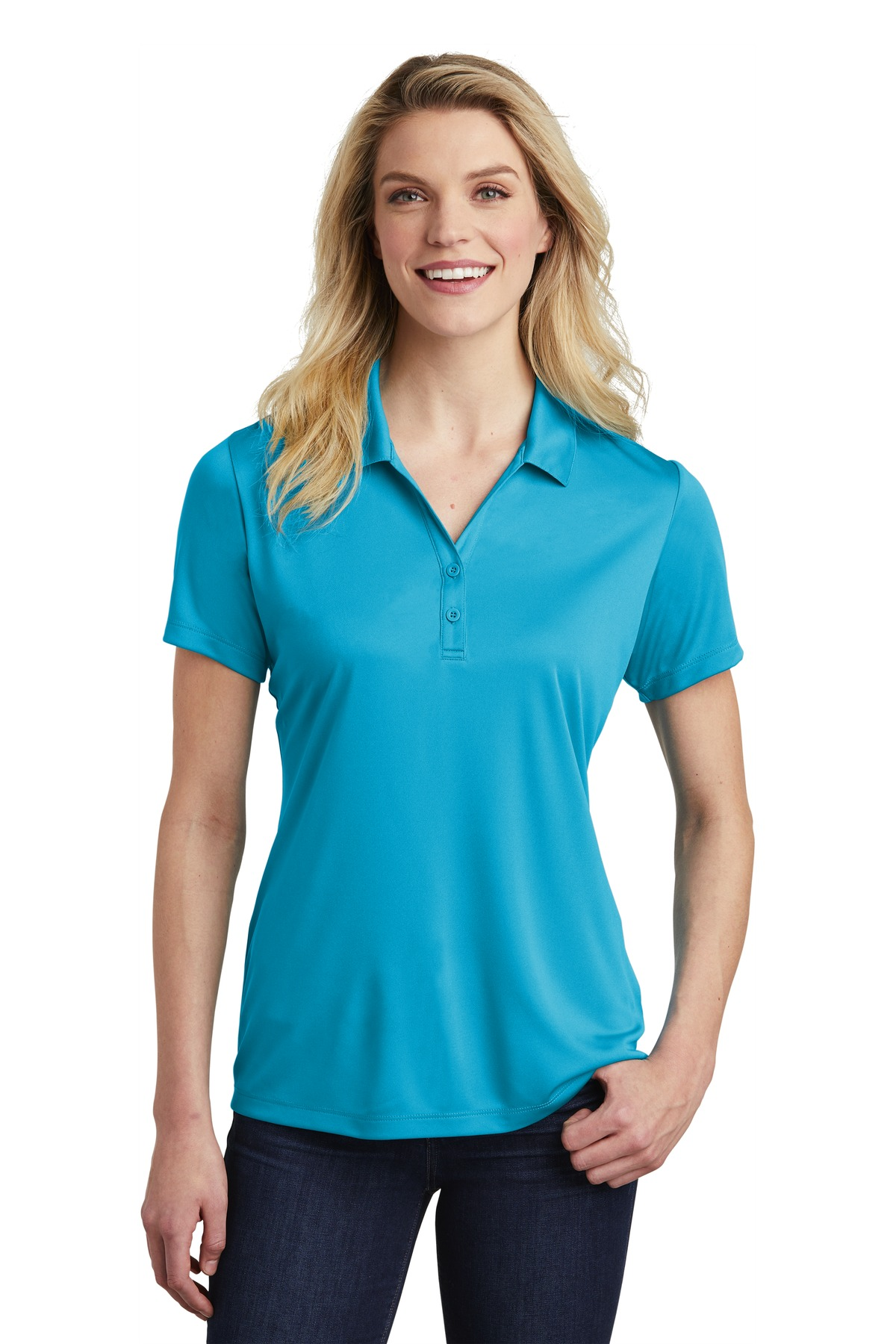 Sport-Tek  ®  Ladies PosiCharge  ®  Competitor  ™  Polo. LST550 - Atomic Blue