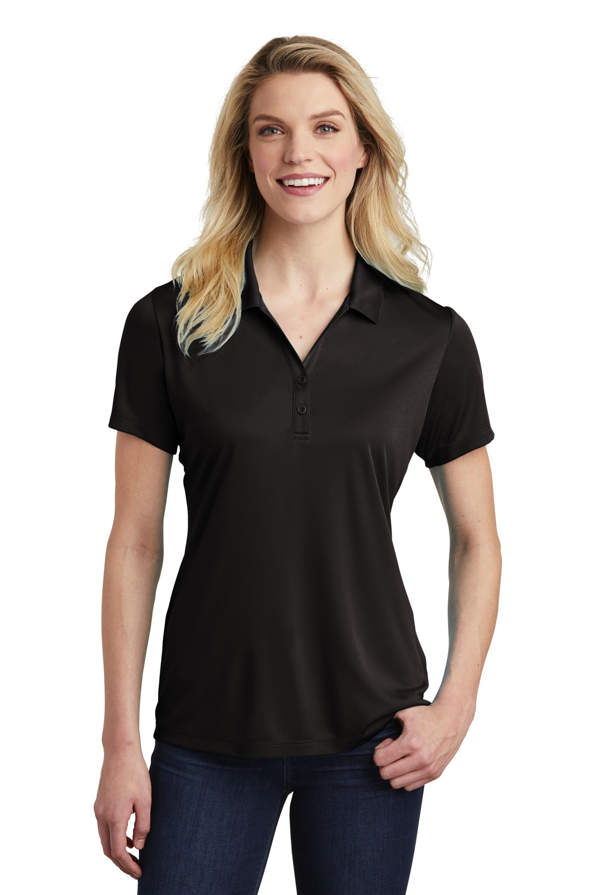 Sport-Tek  ®  Ladies PosiCharge  ®  Competitor  ™  Polo. LST550 - Black