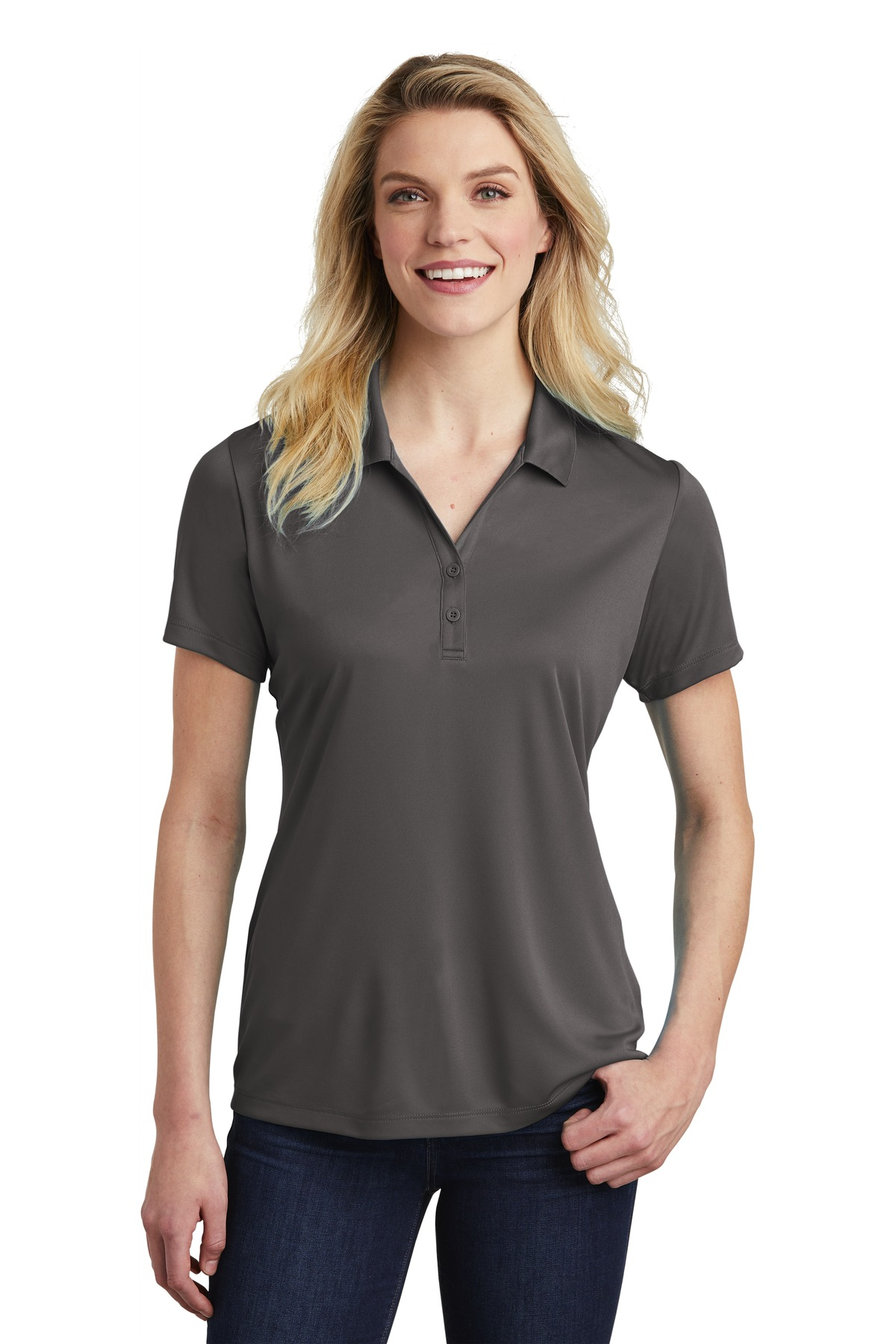 Sport-Tek  ®  Ladies PosiCharge  ®  Competitor  ™  Polo. LST550 - Iron Grey