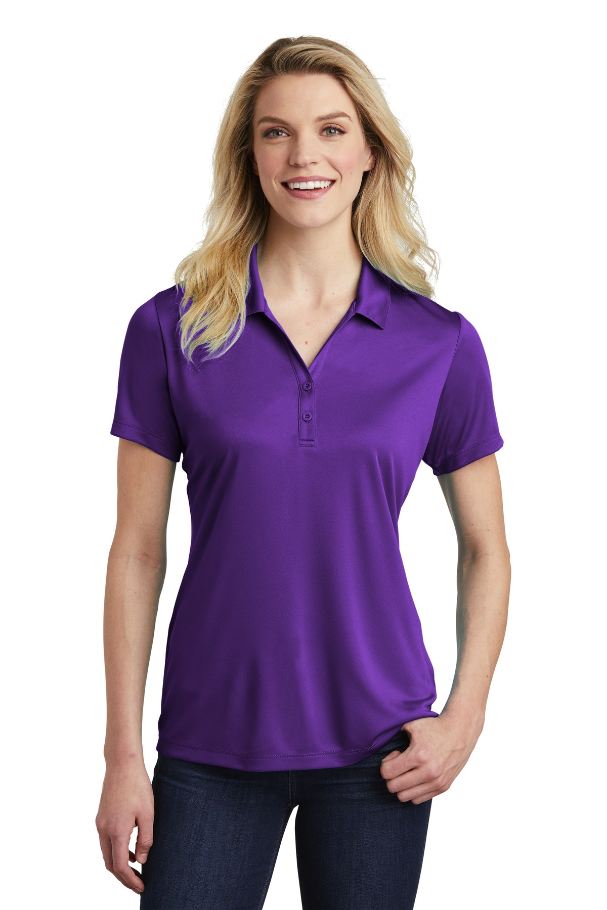 Sport-Tek  ®  Ladies PosiCharge  ®  Competitor  ™  Polo. LST550 - Purple