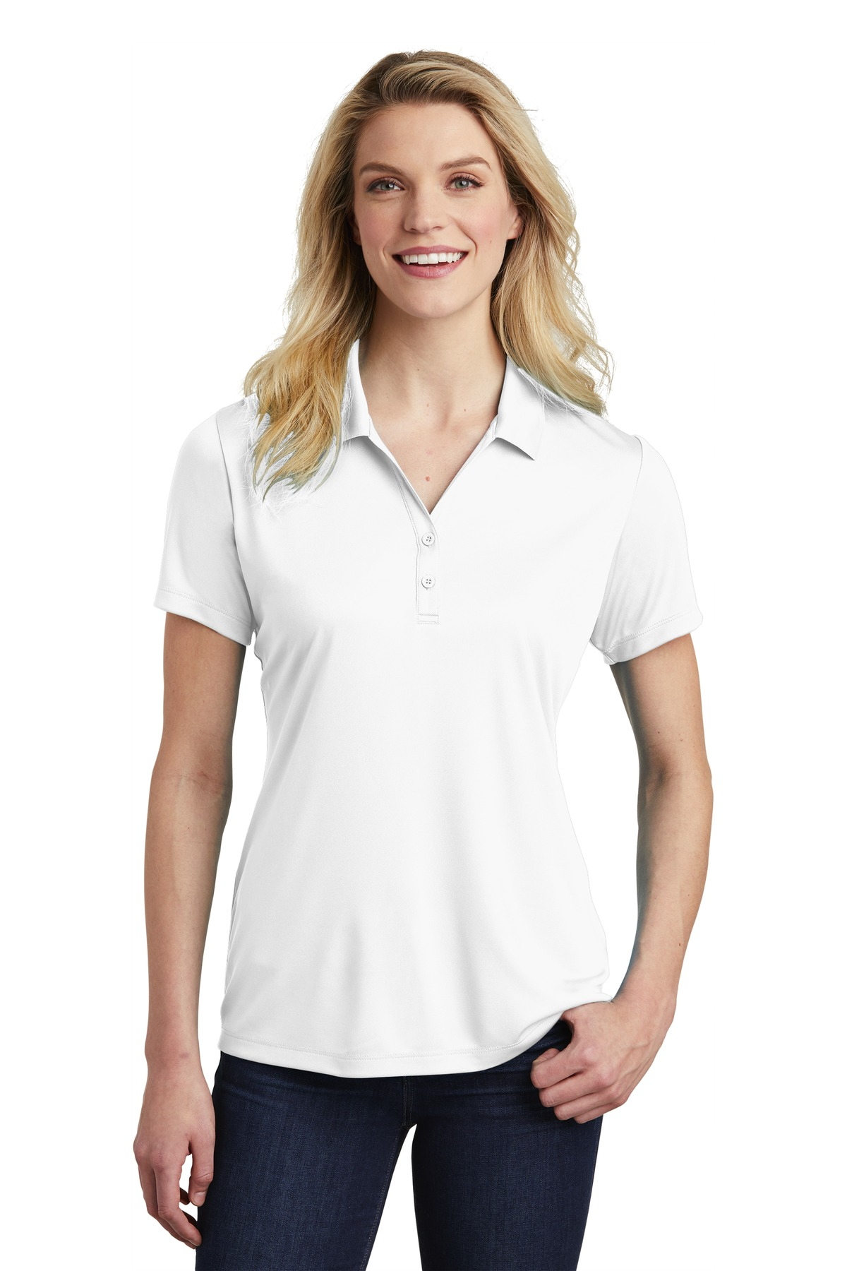 Sport-Tek  ®  Ladies PosiCharge  ®  Competitor  ™  Polo. LST550 - White