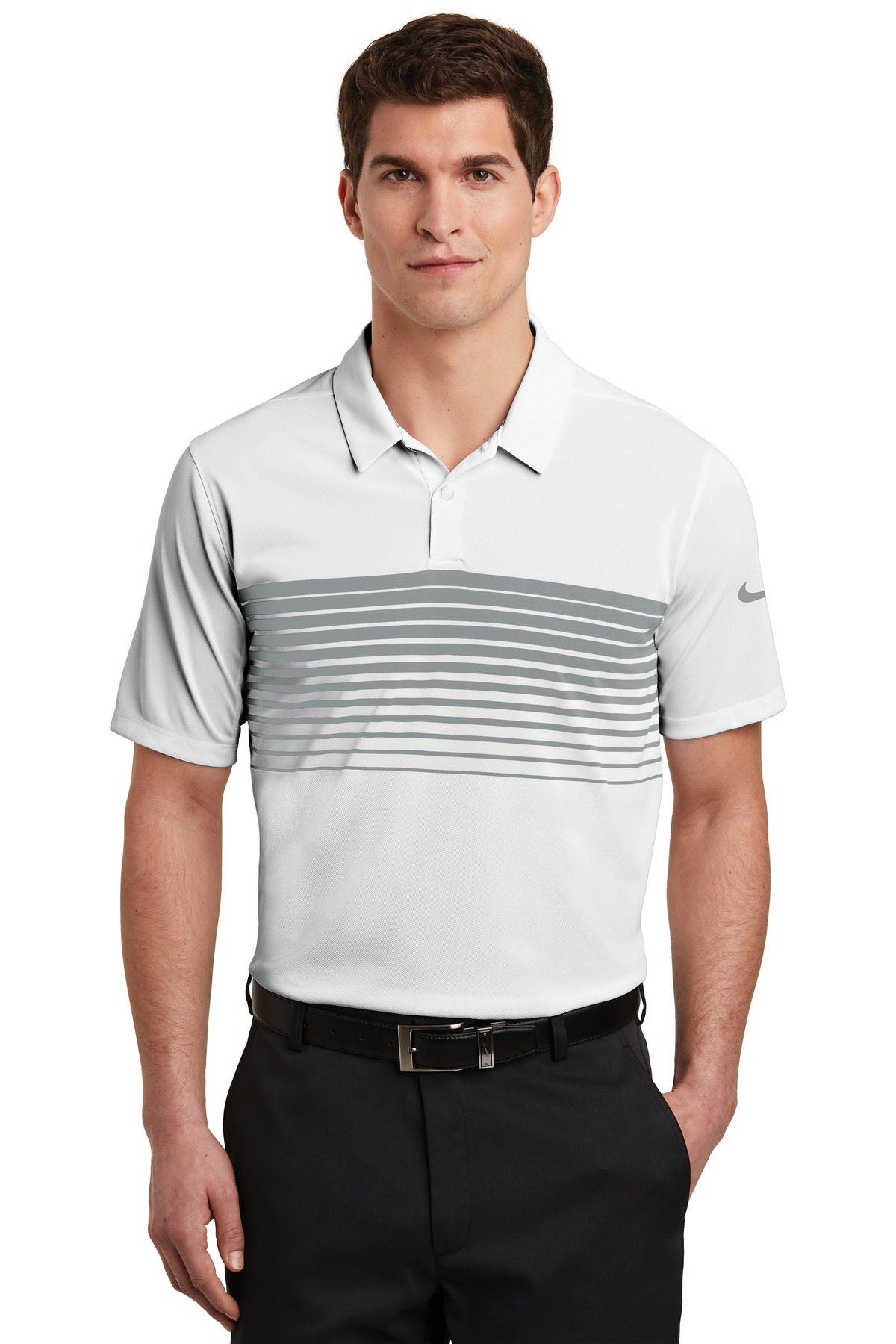 Nike Dri-FIT Chest Stripe Polo. NKAA1855