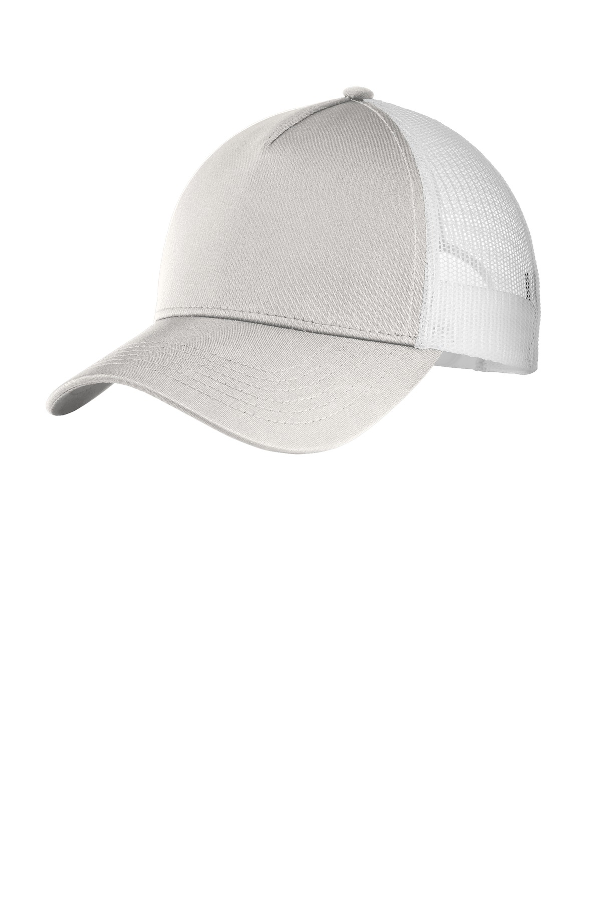 Sport-Tek  ®  PosiCharge  ®  Competitor  ™  Mesh Back Cap. STC36 - Silver/ White