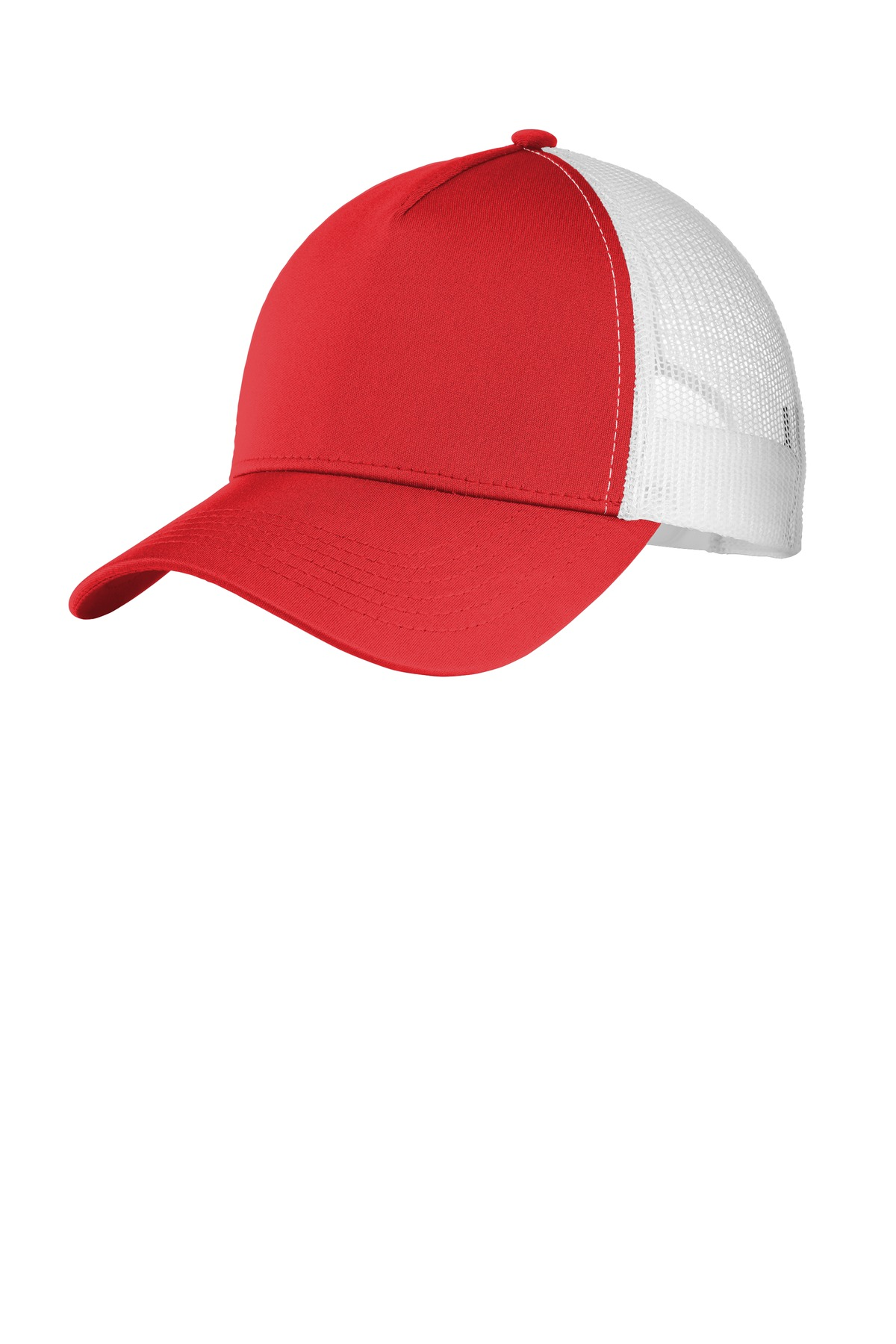 Sport-Tek  ®  PosiCharge  ®  Competitor  ™  Mesh Back Cap. STC36 - True Red/ White