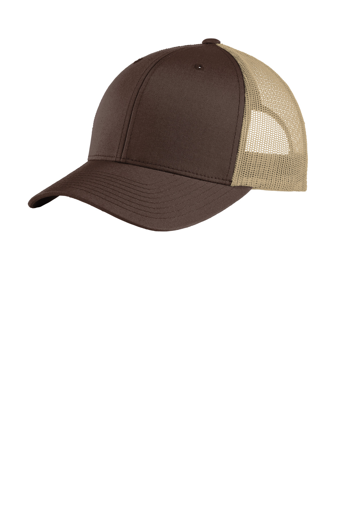 Sport-Tek  ®  Yupoong  ®  Retro Trucker Cap. STC39 - Chocolate Brown/ Khaki