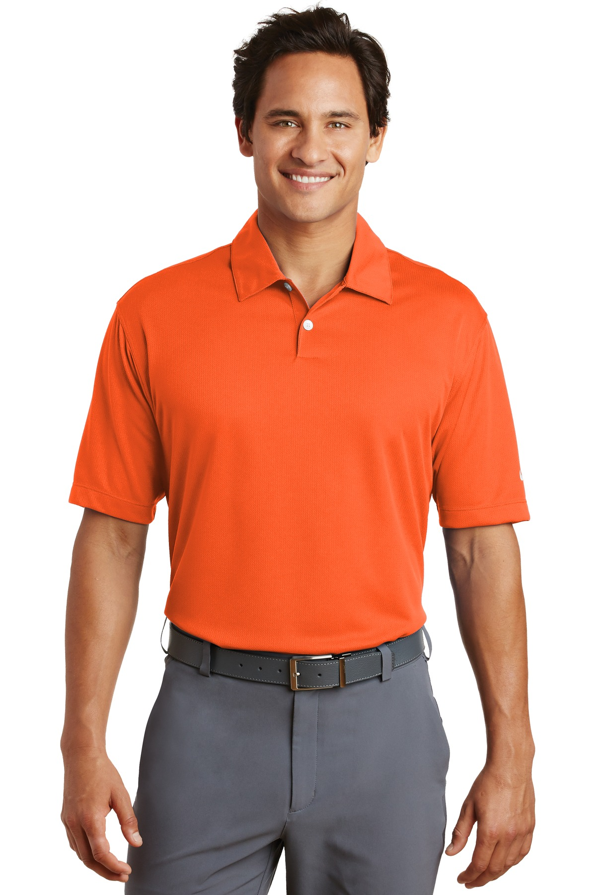 Nike Dri-FIT Pebble Texture Polo. 373749 - Brilliant Orange