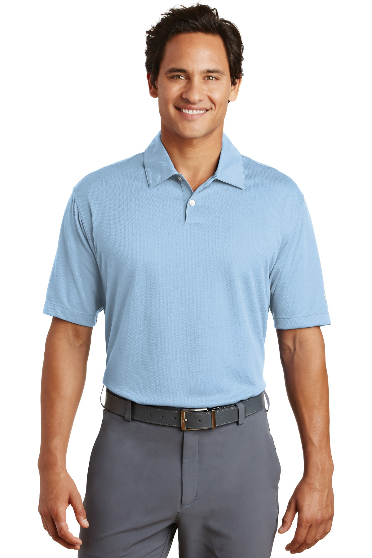 Nike Dri-FIT Pebble Texture Polo. 373749 - Cirrus Blue