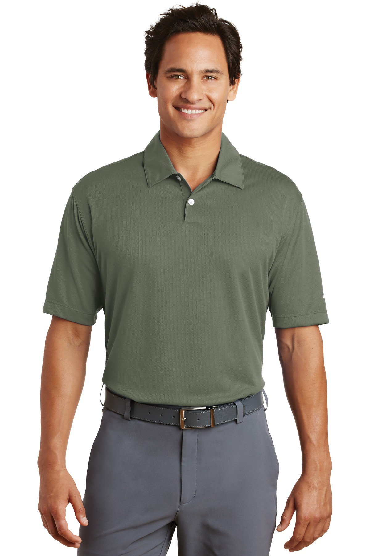 Nike Dri-FIT Pebble Texture Polo. 373749 - Vintage Lichen