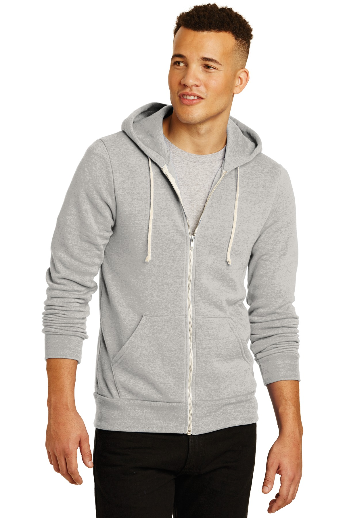 Alternative  Rocky Eco ™ -Fleece Zip Hoodie. AA9590 - Eco Oatmeal Grey