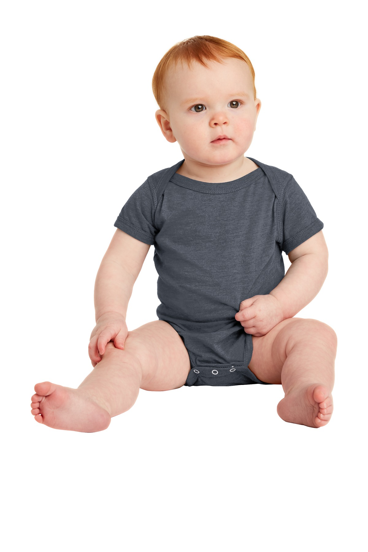 Rabbit Skins™ Infant Vintage Fine Jersey Bodysuit . RS4424 - Vintage Navy