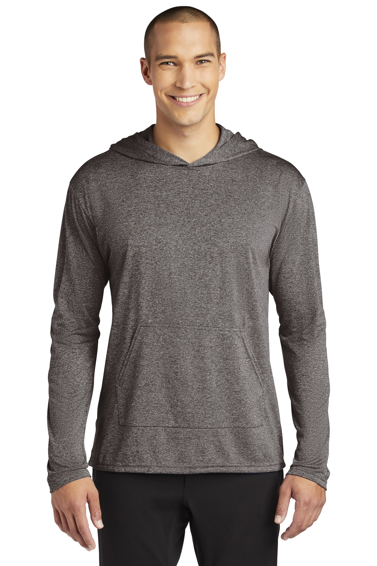Gildan Performance  ®  Core Hooded T-Shirt. 46500 - Heather Sport Black