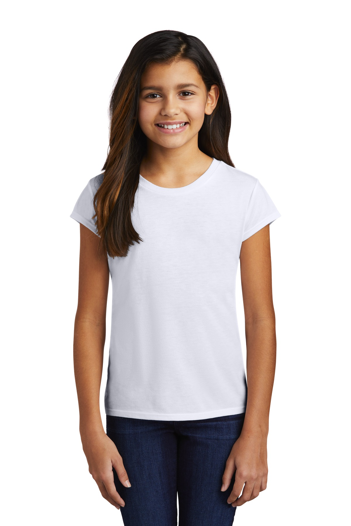 District  ®  Girls Perfect Tri  ®  Tee DT130YG - White