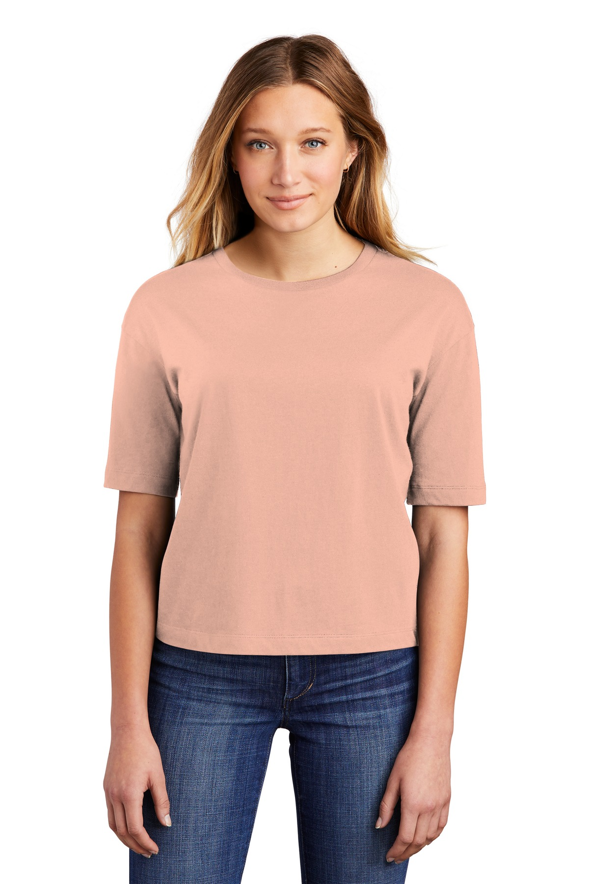 District  ®  Women's V.I.T.  ™  Boxy Tee DT6402 - Dusty Peach
