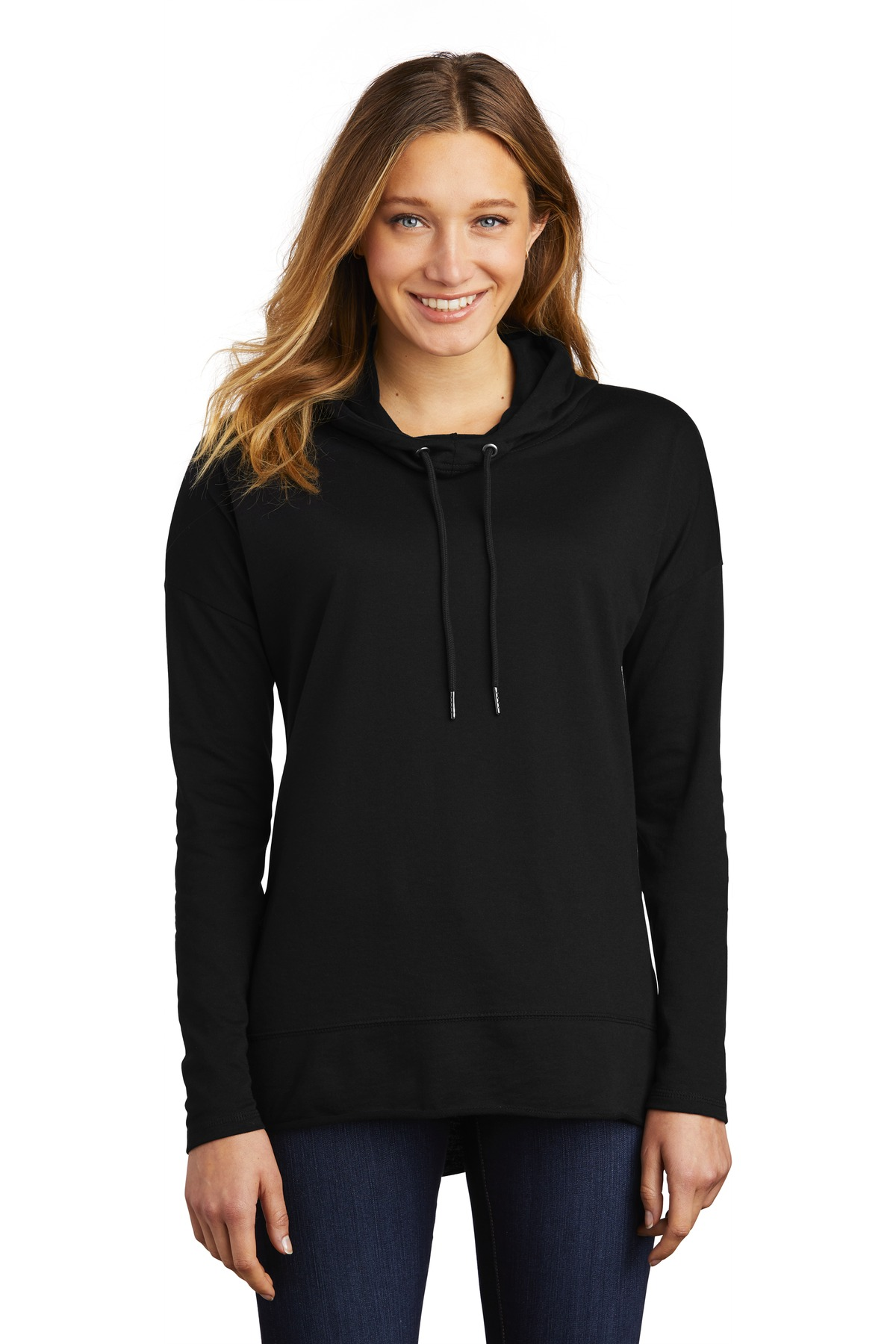 District  ®  Women's Featherweight French Terry  ™  Hoodie DT671 - Black