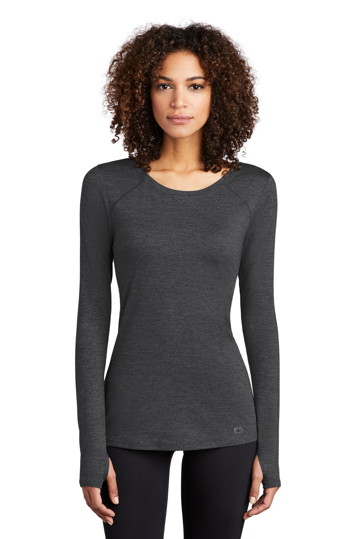 OGIO  ®  ENDURANCE Ladies Force Long Sleeve Tee LOE340 - Blacktop Heather