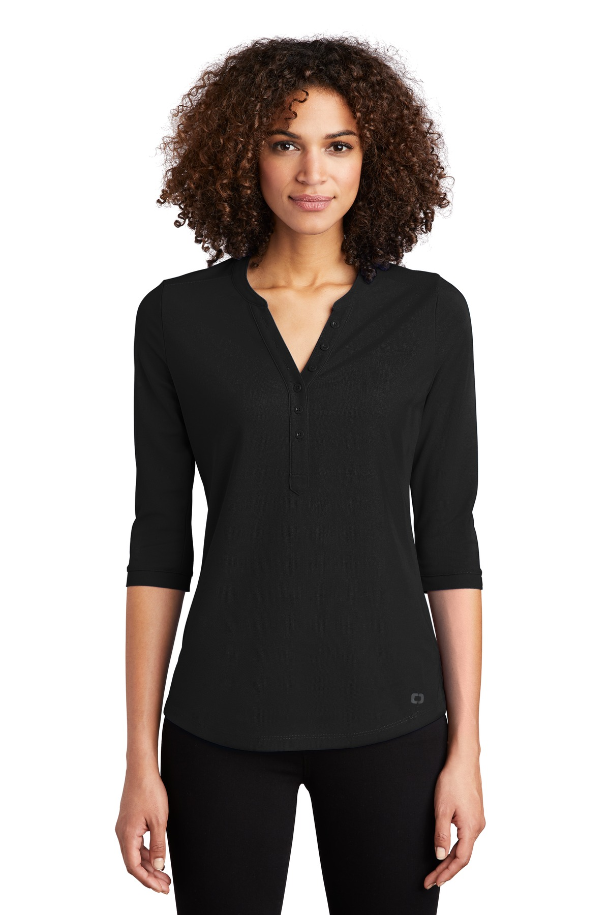 OGIO  ®  Ladies Jewel Henley LOG104 - Blacktop