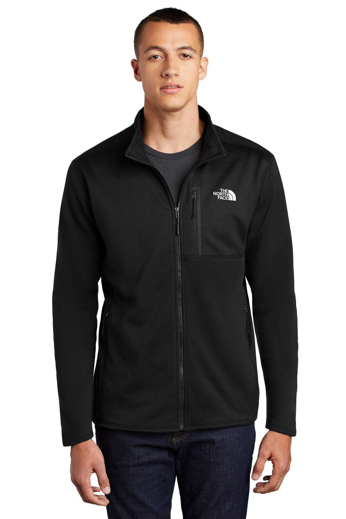 The North Face  ®  Skyline Full-Zip Fleece Jacket NF0A47F5 - TNF Black