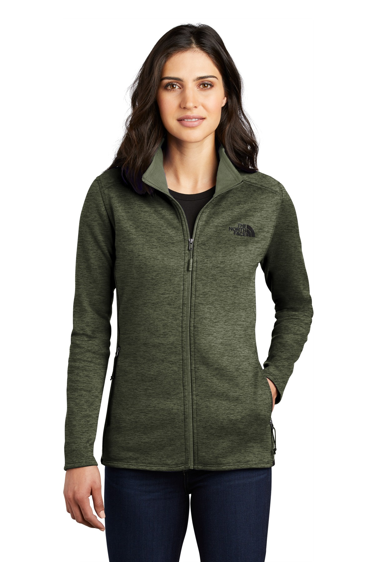 The North Face  ®  Ladies Skyline Full-Zip Fleece Jacket NF0A47F6 - Four Leaf Clover Heather