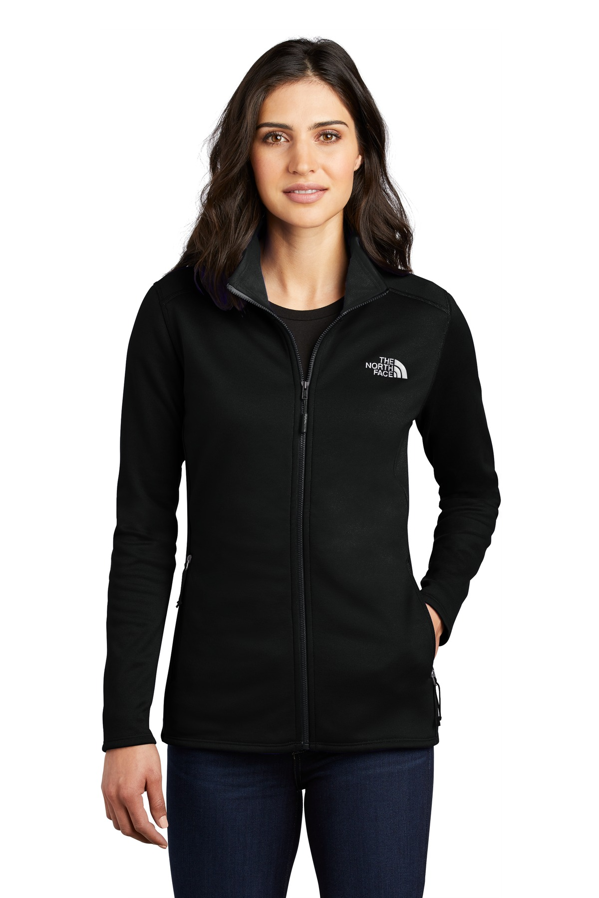 The North Face  ®  Ladies Skyline Full-Zip Fleece Jacket NF0A47F6 - TNF Black