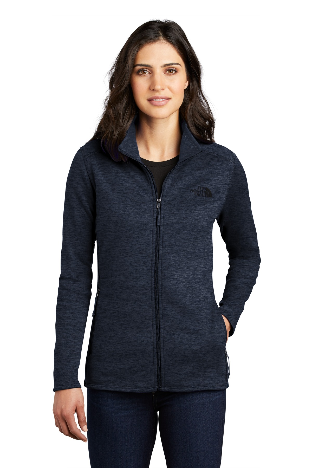 The North Face  ®  Ladies Skyline Full-Zip Fleece Jacket NF0A47F6 - Urban Navy Heather