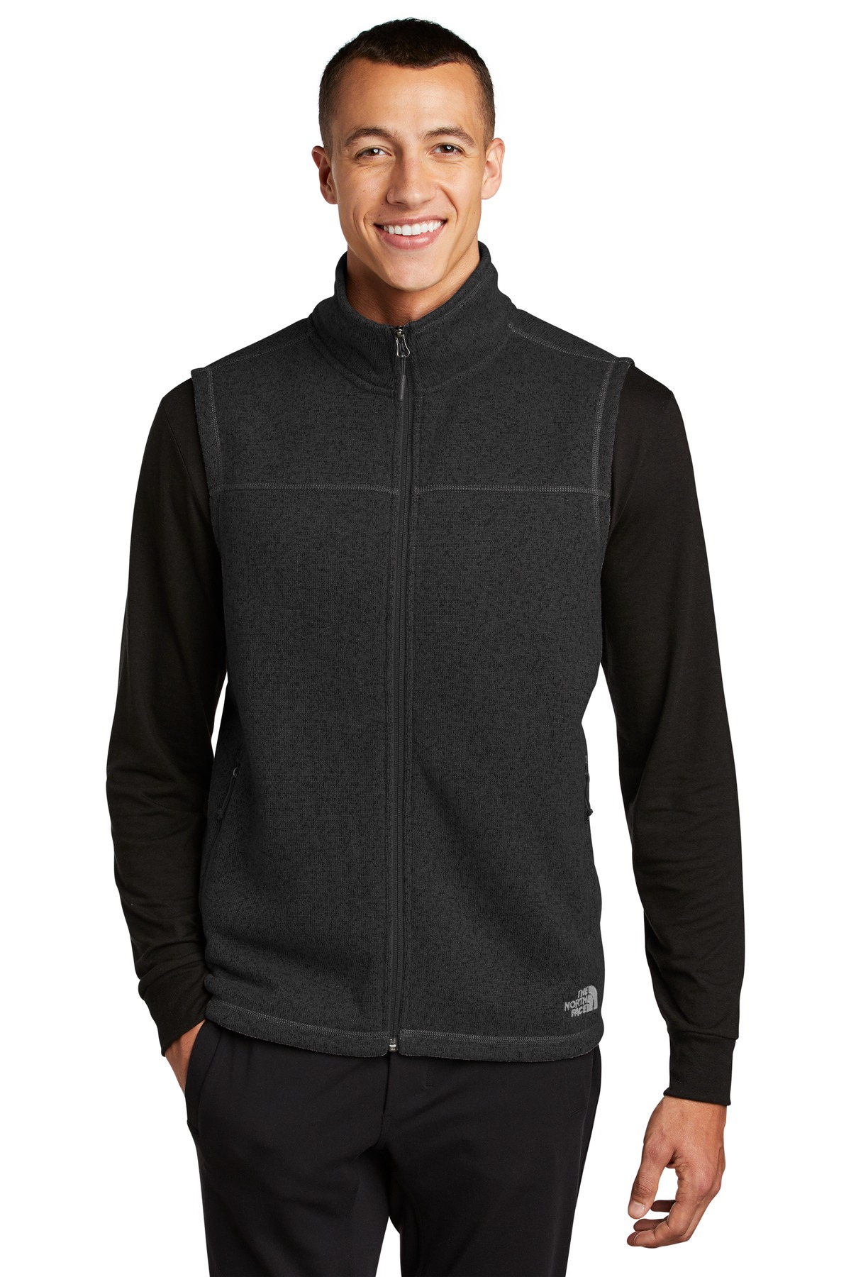 The North Face  ®  Sweater Fleece Vest NF0A47FA - TNF Black Heather