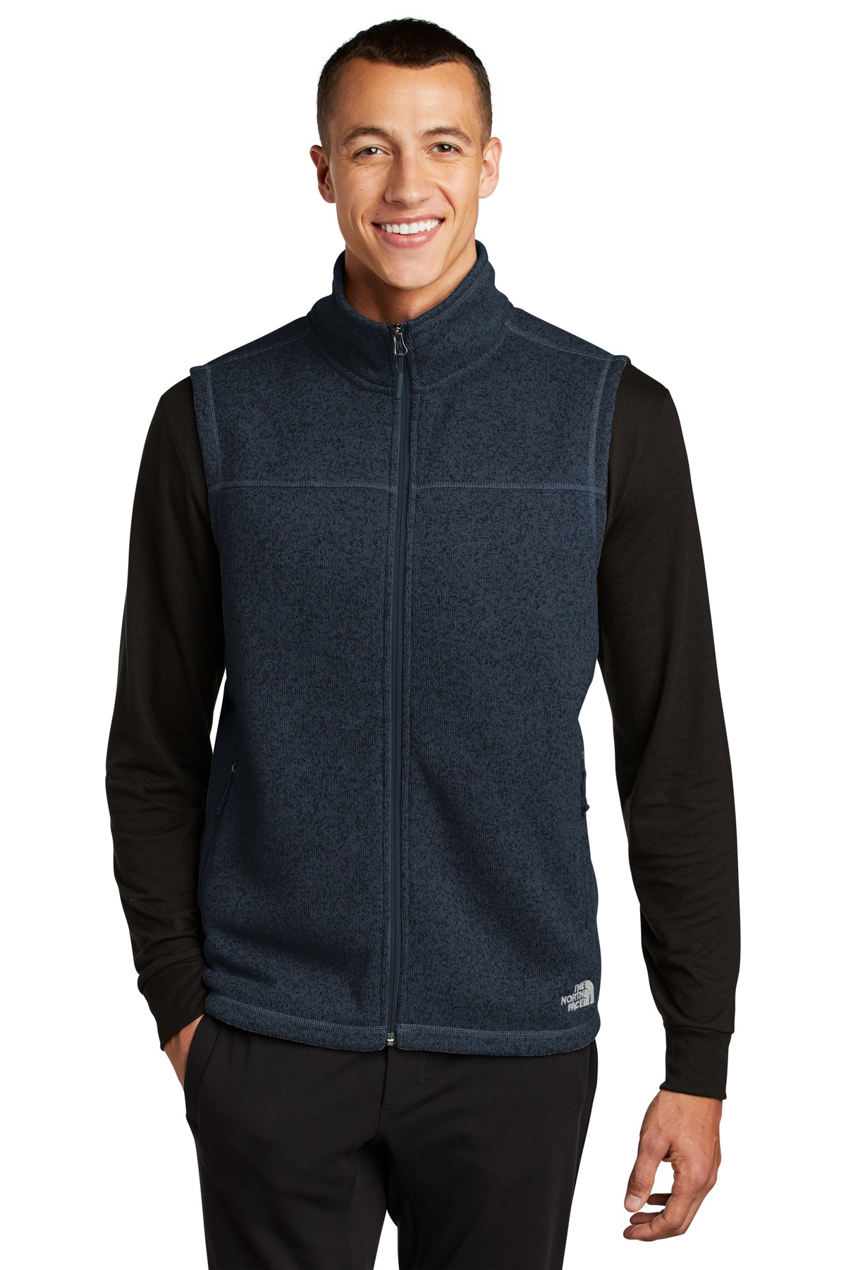 The North Face  ®  Sweater Fleece Vest NF0A47FA - Urban Navy Heather