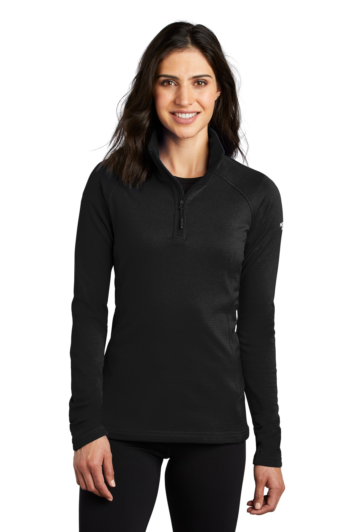 The North Face  ®  Ladies Mountain Peaks 1/4-Zip Fleece NF0A47FC - TNF Black