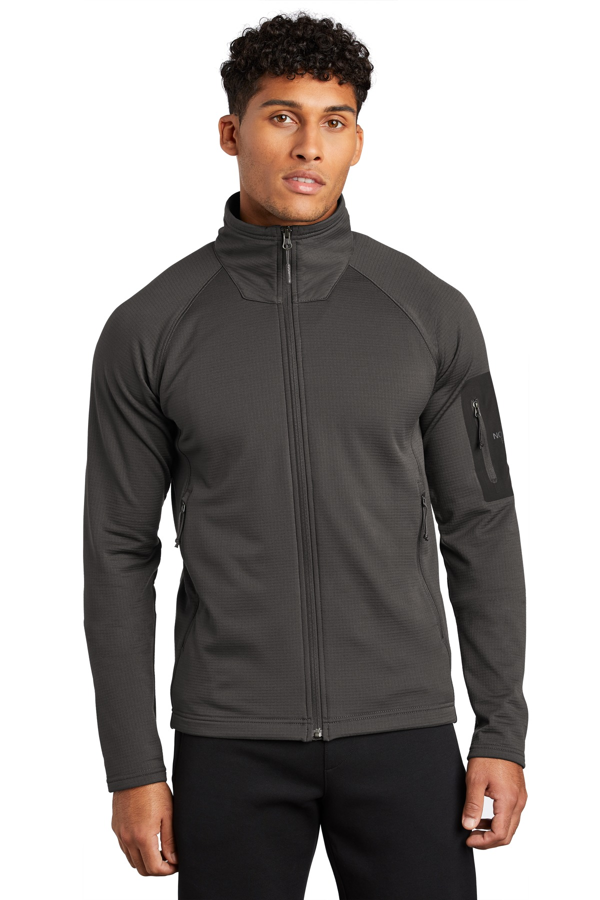The North Face  ®  Mountain Peaks Full-Zip Fleece Jacket NF0A47FD - Asphalt Grey