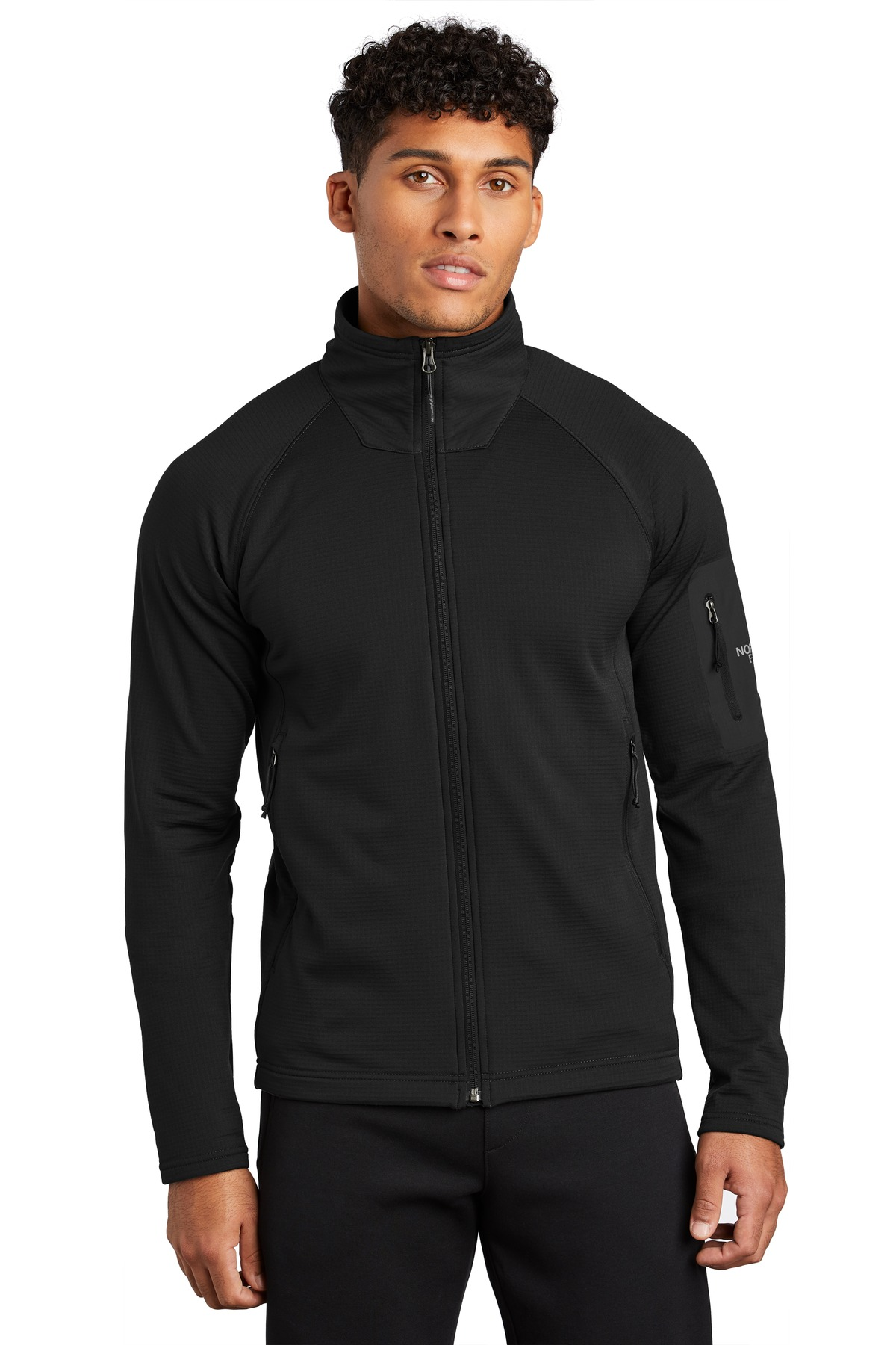 The North Face  ®  Mountain Peaks Full-Zip Fleece Jacket NF0A47FD - TNF Black