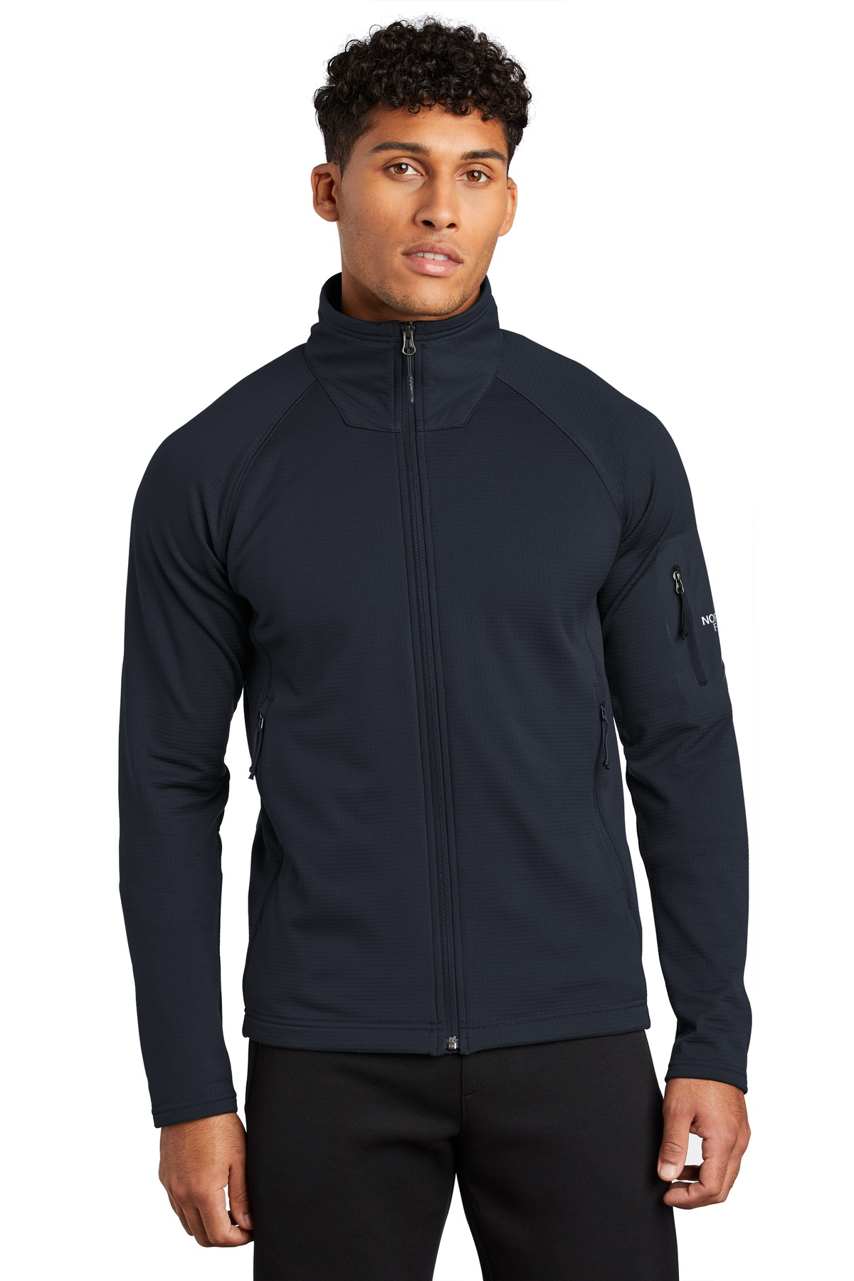 The North Face  ®  Mountain Peaks Full-Zip Fleece Jacket NF0A47FD - Urban Navy