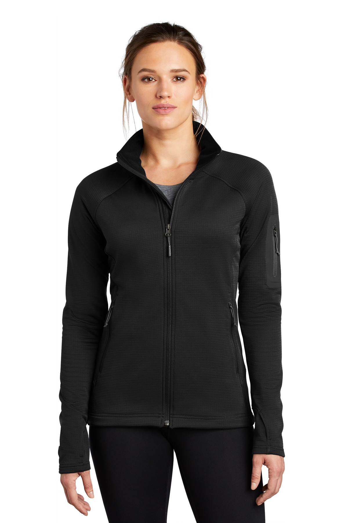 The North Face  ®  Ladies Mountain Peaks Full-Zip Fleece Jacket NF0A47FE - TNF Black
