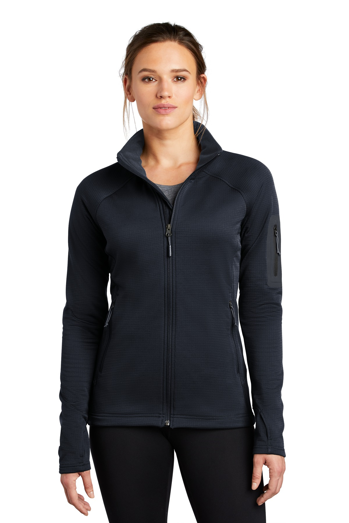 The North Face  ®  Ladies Mountain Peaks Full-Zip Fleece Jacket NF0A47FE - Urban Navy