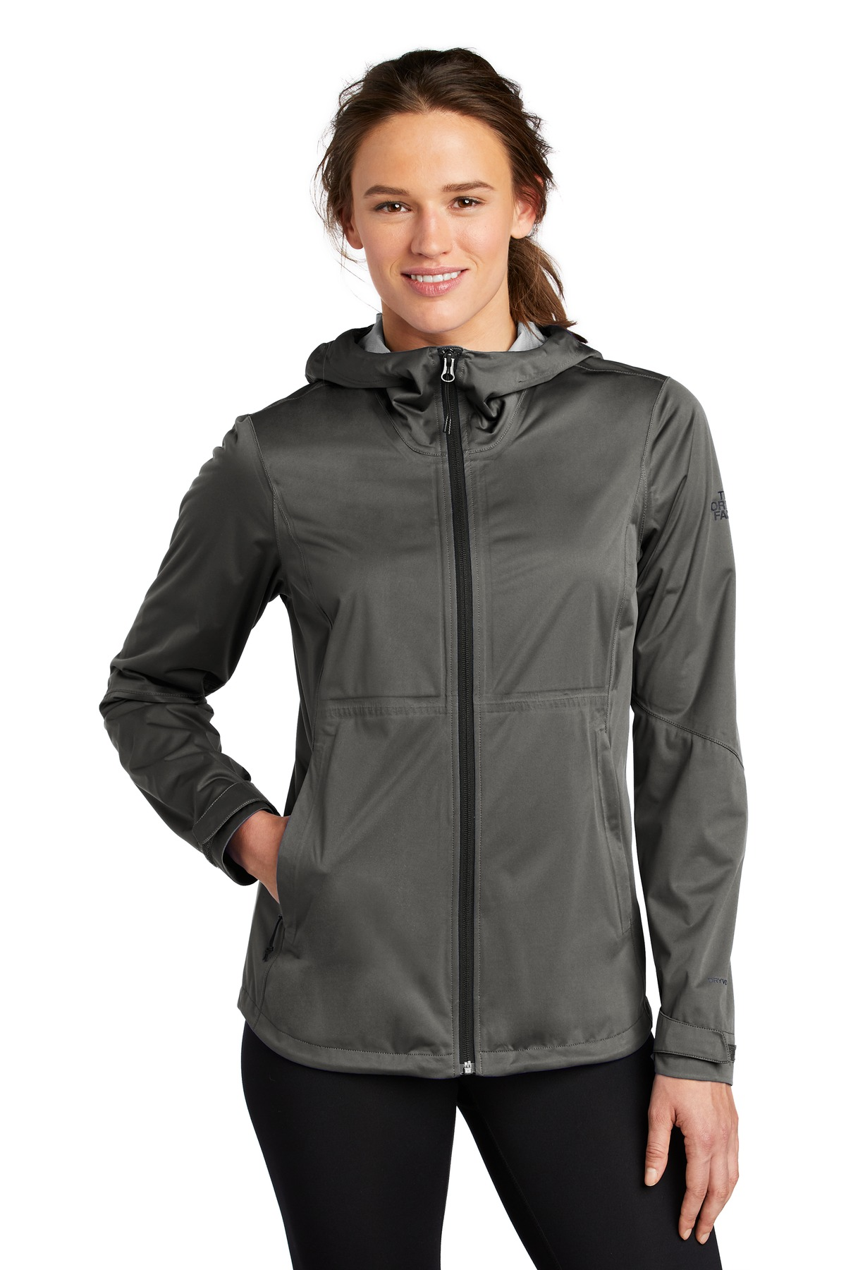 The North Face  ®  Ladies All-Weather DryVent  ™  Stretch Jacket NF0A47FH - Asphalt Grey