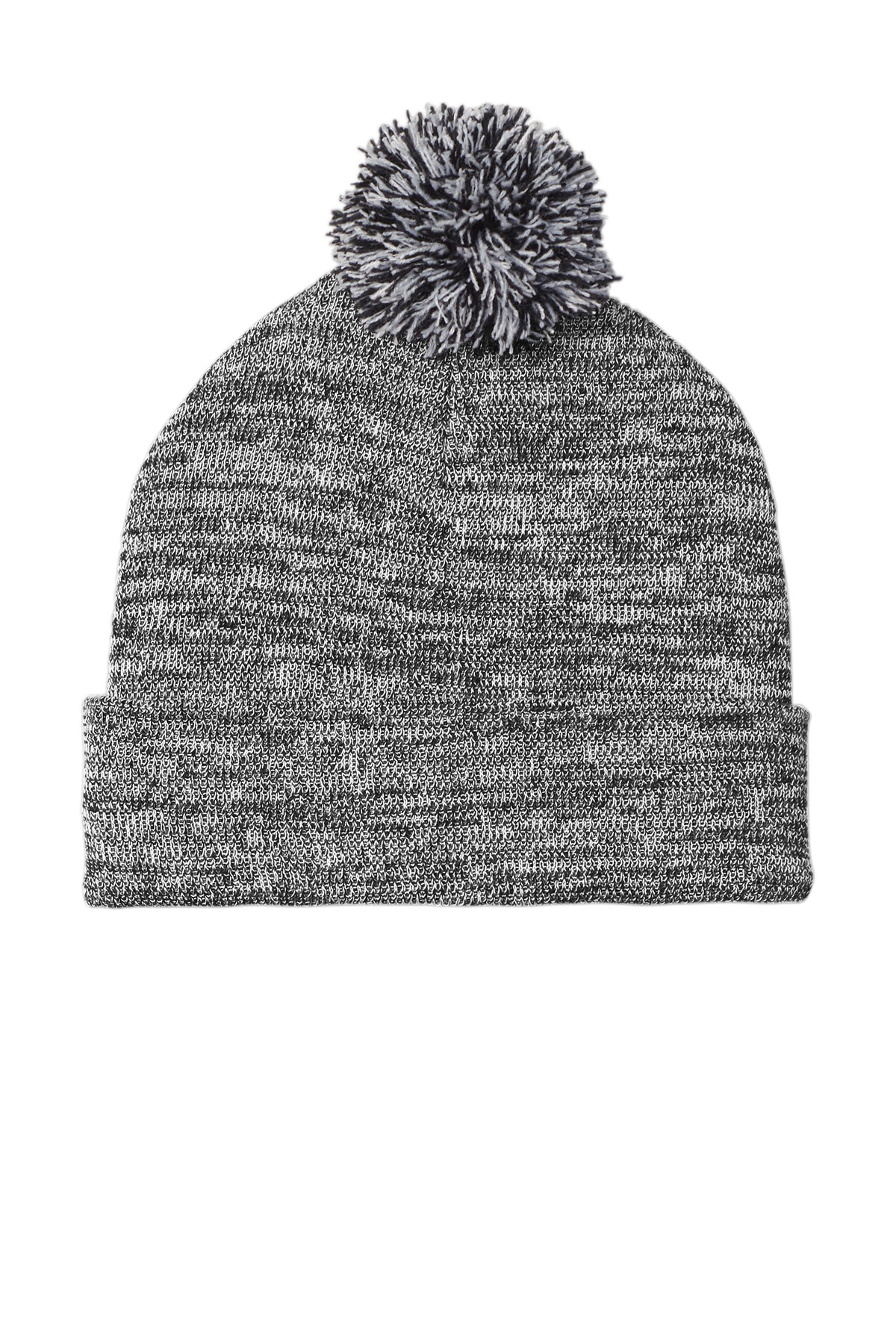 Sport-Tek  ®  Heather Pom Pom Beanie STC41 - Grey Heather