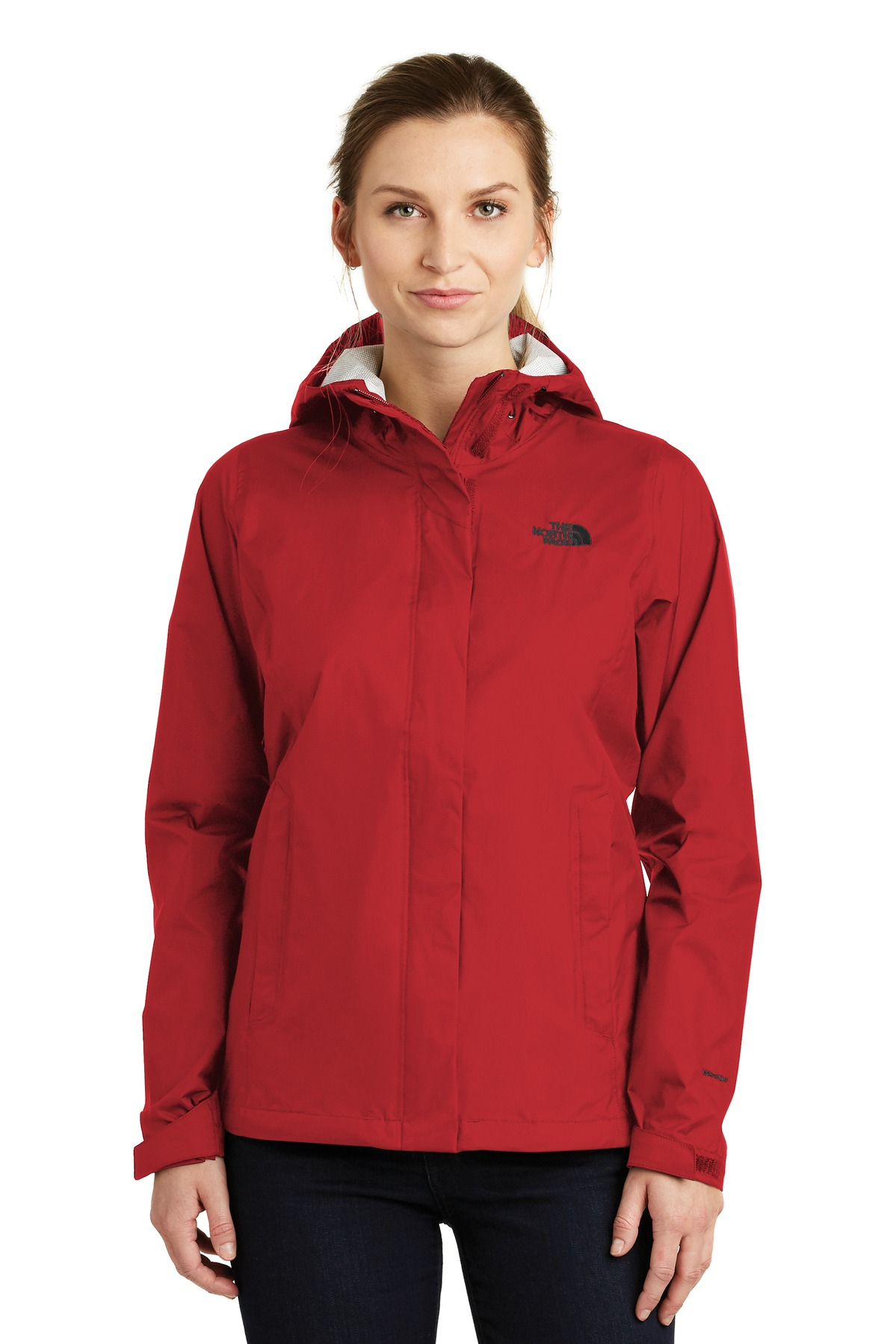 The North Face  ®  Ladies DryVent ™  Rain Jacket. NF0A3LH5 - Rage Red
