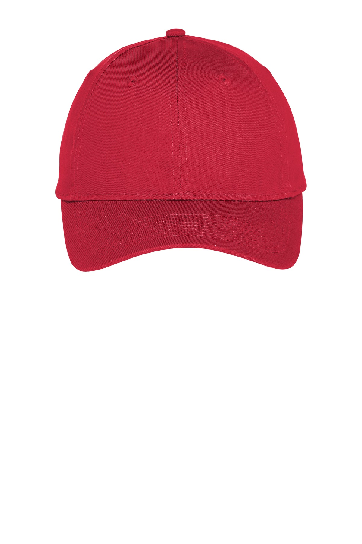 Port & Company ®  Six-Panel Unstructured Twill Cap. C914 - True Red