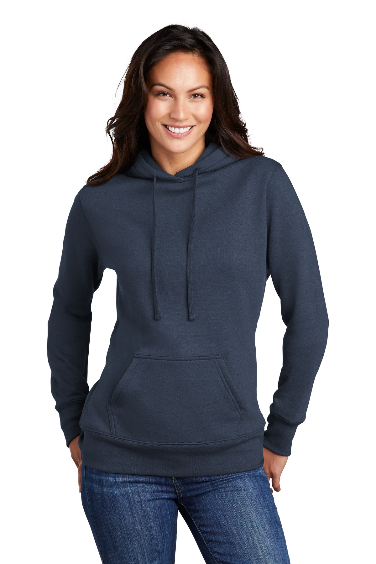 Port & Company  ®  Ladies Core Fleece Pullover Hooded Sweatshirt LPC78H - Navy