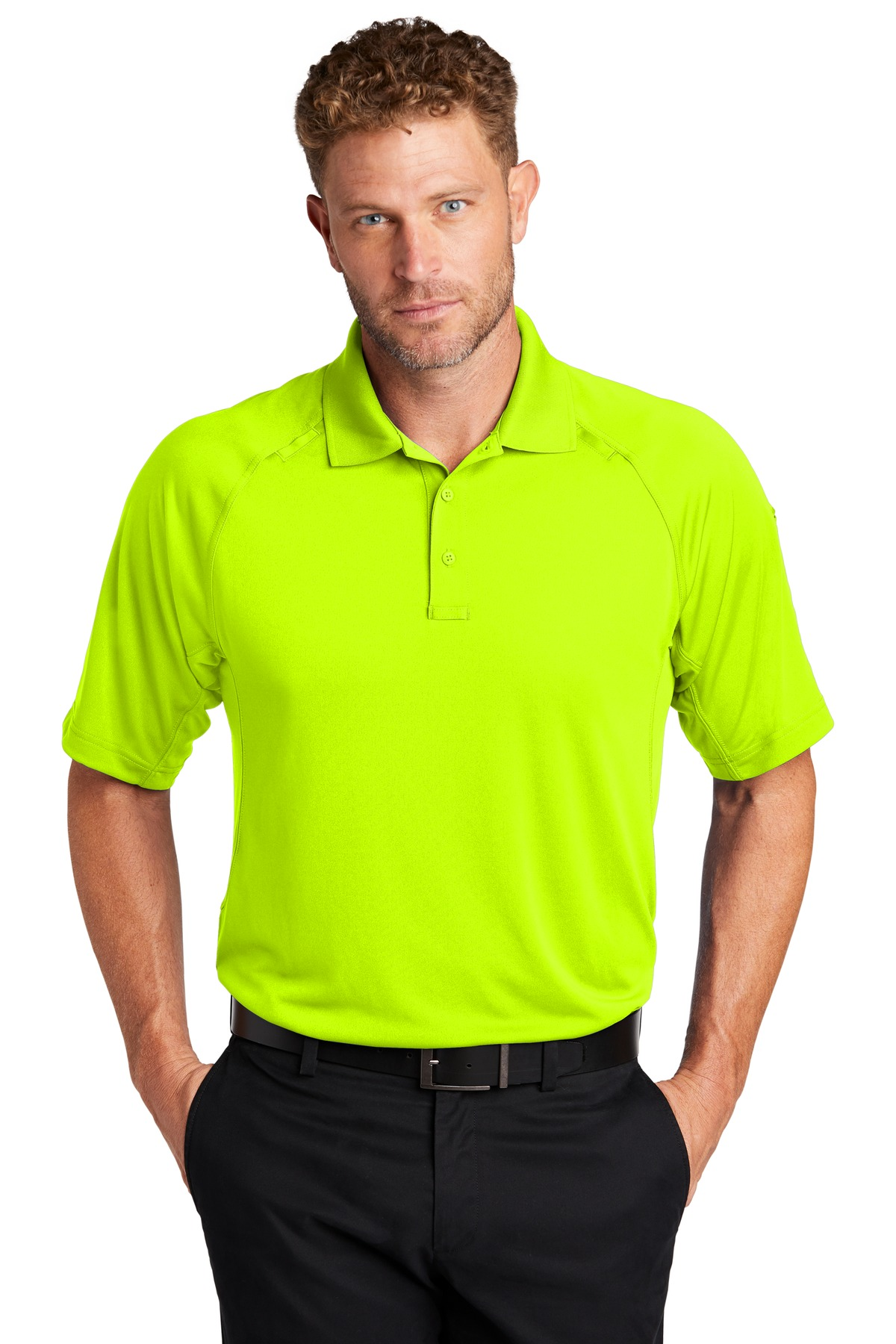 CornerStone  ®  Select Lightweight Snag-Proof Tactical Polo. CS420 - Safety Yellow