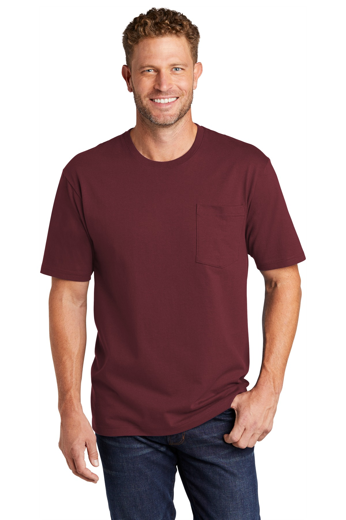 CornerStone  ®  Workwear Pocket Tee CS430 - Maroon